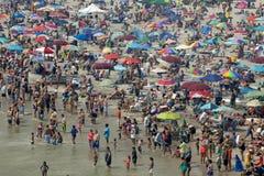 夏天海滩假期-大西洋城,新泽西 免版税库存照片