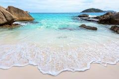 夏天海滩在泰国 免版税库存图片