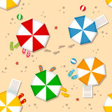 夏天海滩无缝的样式 免版税库存图片