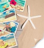 夏天海滩明信片 库存图片
