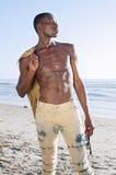 夏天海滩身体 免版税图库摄影