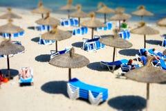 夏天海滩马略卡 免版税库存图片