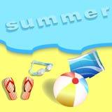 夏天海滩,太阳,海,海洋 图库摄影