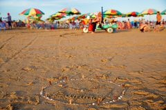 夏天海滩,海公园,广东,中国 免版税库存图片