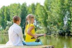 夏天渔 库存图片