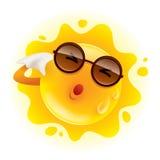 夏天热太阳冒汗的感觉和抹 皇族释放例证