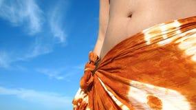 夏天热带妇女 免版税图库摄影