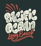 夏天热带海浪印刷品太平洋传染媒介例证 库存照片