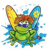 夏天牙买加动画片青蛙 库存图片