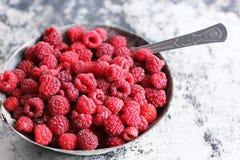夏天甜点莓 库存照片