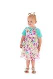夏天礼服的小孩女孩 库存图片