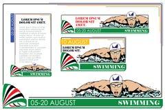 夏天种类体育 游泳 皇族释放例证