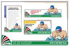 夏天种类体育 游泳 库存例证