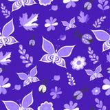 夏天精美蓝色颜色传染媒介无缝的样式 重复纹理 库存照片