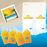 夏天网站与海滩的模板设计 免版税图库摄影