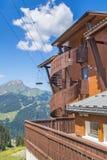 夏天背景在法国阿尔卑斯 免版税库存照片
