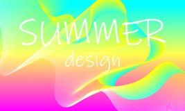 夏天背景摘要 流程形状设计 向量例证