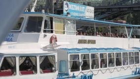 夏天航海在莫斯科,俄罗斯 股票录像