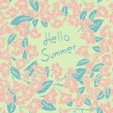 夏天花卉卡片 也corel凹道例证向量 库存图片
