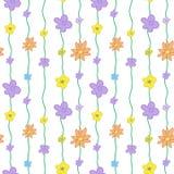 夏天花卉无缝的样式 免版税图库摄影