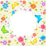 夏天花卉设计 免版税库存图片
