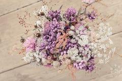 夏天草甸花美丽的嫩花束  库存图片