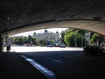 夏天街道在莫斯科 免版税库存图片