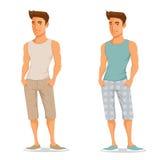 夏天衣裳的年轻英俊的人 库存照片