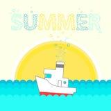 夏天设计模板 免版税库存图片