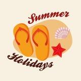 夏天设计 假日象 五颜六色的例证,传染媒介 免版税库存照片