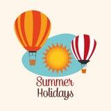 夏天设计 假日象 五颜六色的例证,传染媒介 免版税库存图片