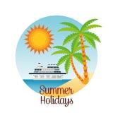 夏天设计 假日象 五颜六色的例证,传染媒介 库存图片