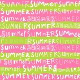夏天词无缝的样式背景 库存图片
