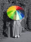 夏天遮阳伞颜色 免版税库存照片