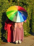 夏天遮阳伞颜色 免版税库存图片