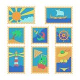 夏天邮票 库存照片
