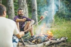 夏天野营,远足,假期 库存图片