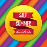 夏天销售传染媒介横幅 库存照片