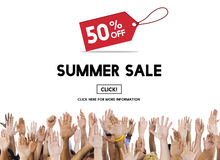 夏天销售广告折扣促进概念 免版税库存图片