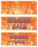 夏天销售横幅模板 皇族释放例证