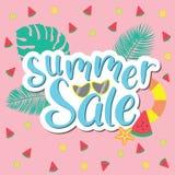 夏天销售横幅,海报模板 蝴蝶绿色例证天空夏天主题向量 皇族释放例证