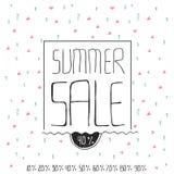 夏天销售横幅 免版税库存图片