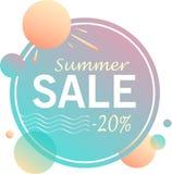 夏天销售-横幅设计  库存例证