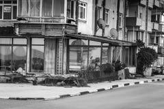 夏天镇街道在国家土耳其 库存图片