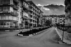 夏天镇街道在国家土耳其 图库摄影