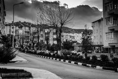 夏天镇街道在国家土耳其 免版税库存照片