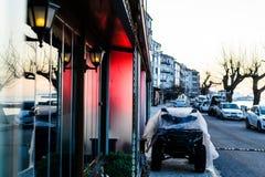 夏天镇街道在国家土耳其 免版税库存图片