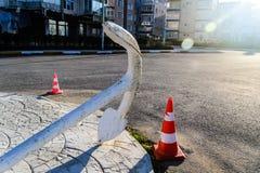 夏天镇街道在国家土耳其 免版税图库摄影