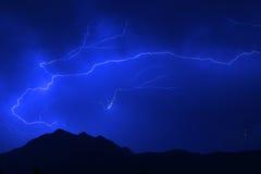 夏天闪电风暴 免版税库存图片