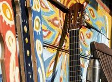 夏天震动吉他概念 库存图片